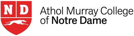 Logo-Athol-Murray-Collage-Notre-Dame-rød